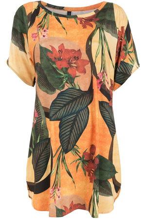 Lygia & Nanny Women Printed Dresses - Floral leaf print T-shirt dress