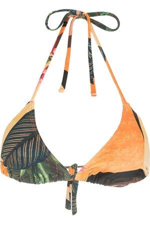 Lygia & Nanny Iasmim leaf-print bikini top