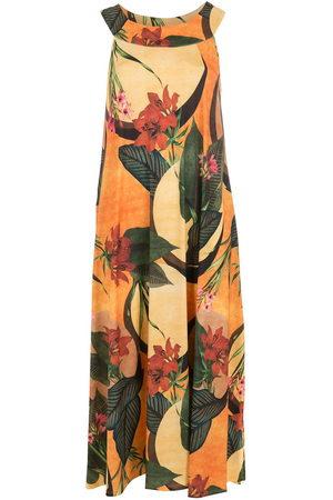 Lygia & Nanny Women Printed Dresses - Floral leaf print midi dress