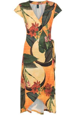 Lygia & Nanny Women Printed Dresses - Falcão floral-print wrap dress