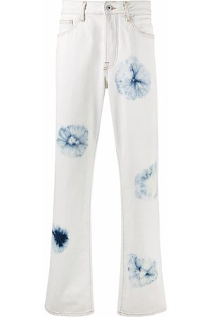 MARCELO BURLON Tie-dye straight-leg jeans