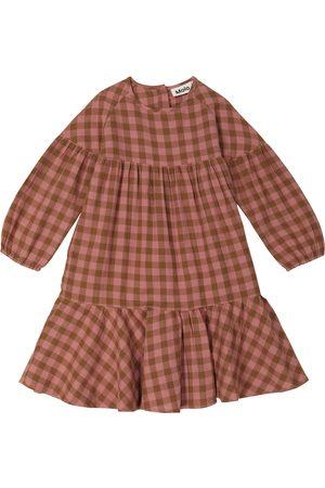 Molo Cecily checked cotton poplin dress