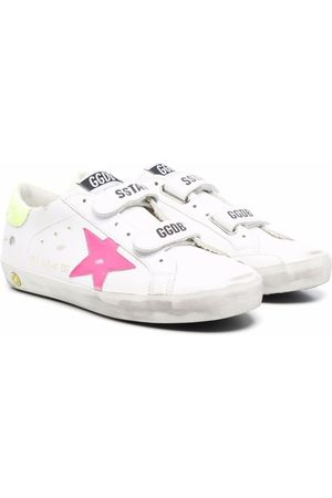 Golden Goose Girls Sneakers - Old School Star-patch low-top leather sneakers