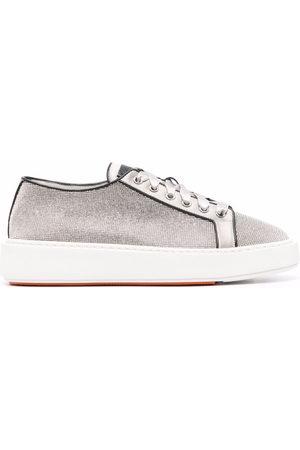 santoni Derby sequin-embellished low-top sneakers