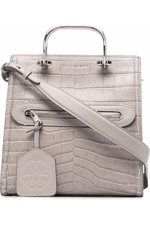 Alexander McQueen The Short Story crocodile-effect bag