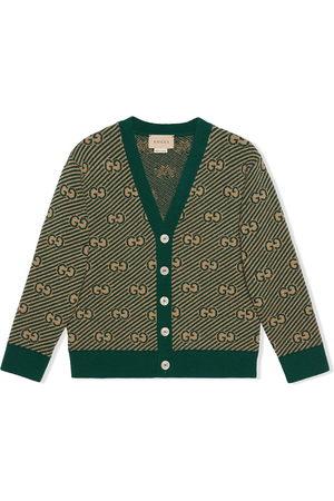 Gucci Boys Cardigans - GG wool cardigan