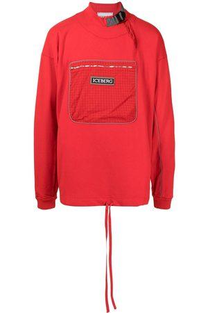 Iceberg Logo-patch cotton sweatshirt