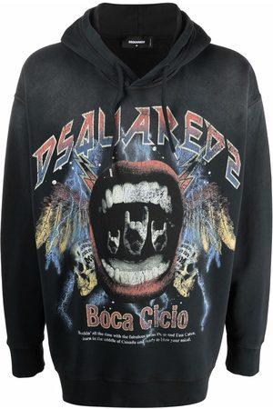 Dsquared2 Vintage rock logo hoodie