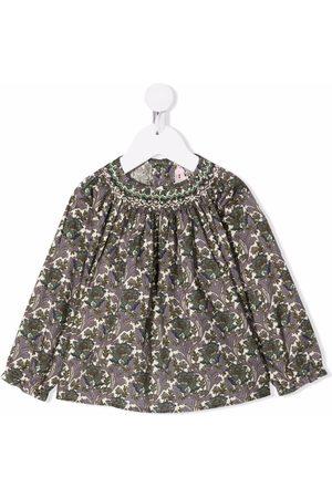 Bonpoint Floral-print cotton blouse