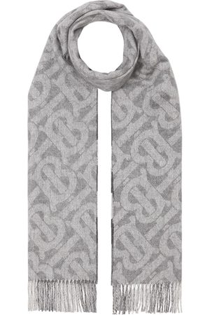 Burberry Reversible monogram-print and checked cashmere scarf