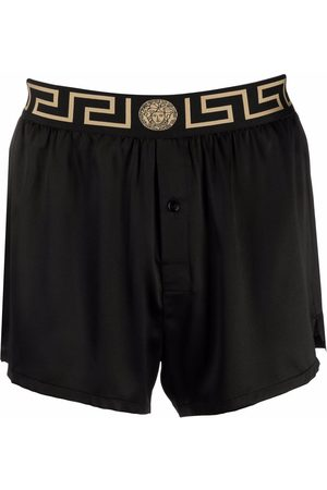 VERSACE Greca border silk pajama shorts