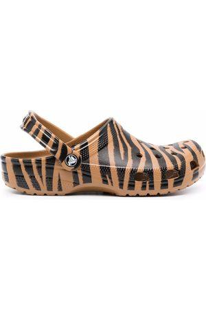 Crocs Zebra-print slides