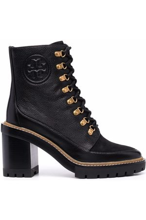 Tory Burch Women Lace-up Boots - Lace-up heeled leather boots