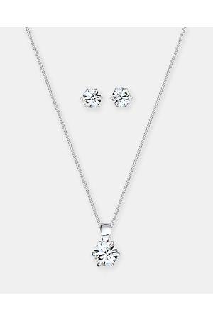 Elli Jewelry Women Jewellery Sets - Jewelry Set Classic Crystals 925 Sterling Silver - Jewellery Jewelry Set Classic Crystals 925 Sterling Silver