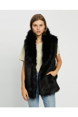 Unreal Fur Premium Rose Vest - Coats & Jackets Premium Rose Vest