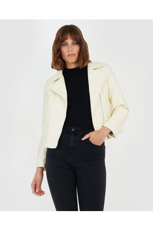 Forcast Milani Biker Jacket - Coats & Jackets (Tofu) Milani Biker Jacket