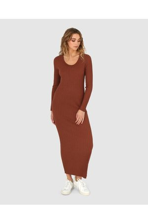 Madison The Label Lucille Dress - Bodycon Dresses (Chocolate) Lucille Dress