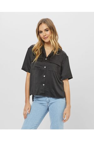 ids Women Polo Shirts - Tess Blouse With Pocket - Shirts & Polos Tess Blouse With Pocket