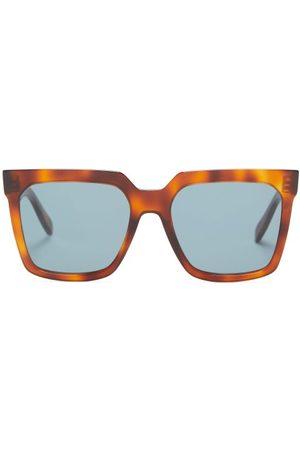 Céline Square Acetate Sunglasses - Womens - Tortoiseshell