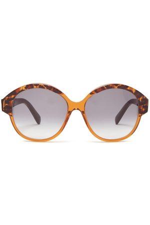 Céline Round Tortoiseshell-acetate Sunglasses - Womens - Tortoiseshell