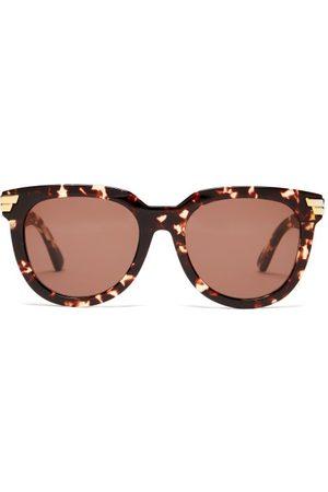 Bottega Veneta Round Tortoiseshell-acetate Sunglasses - Womens - Tortoiseshell