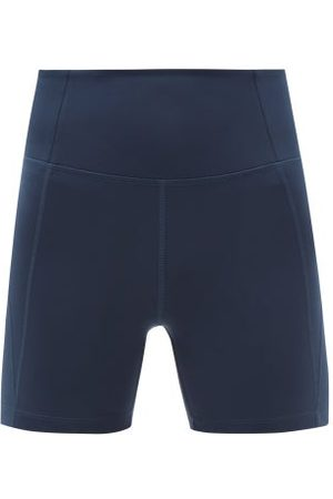 GIRLFRIEND COLLECTIVE High-rise Recycled-fibre Running Shorts - Womens - Navy