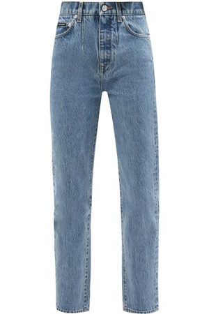 Dolce & Gabbana High-rise Straight-leg Jeans - Womens - Denim