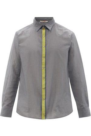 PÉRO Stripe-jacquard Cotton And Silk-blend Twill Shirt - Mens - Multi
