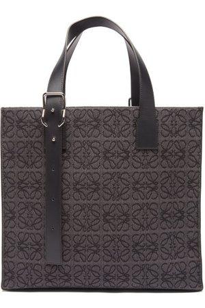 Loewe Men Tote Bags - Anagram-jacquard Canvas & Leather Tote Bag - Mens