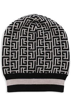 Balmain Monogram Merino Wool Toque