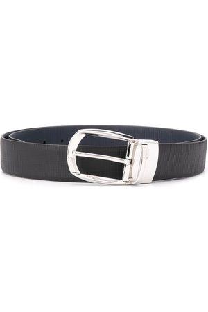 Ermenegildo Zegna Men Belts - Textured oval-buckle belt