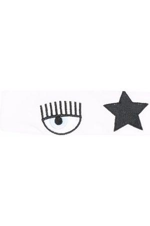 Chiara Ferragni Kids Embroidered cotton headband