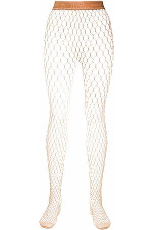 Wolford X Amina Muaddi crystal-embellished net tights