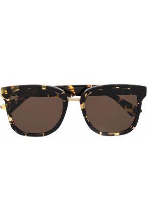 Bottega Veneta Square-frame tortoiseshell sunglasses