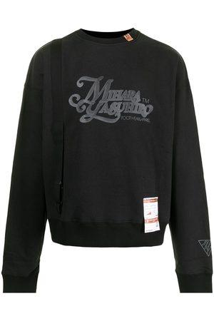 Maison Mihara Yasuhiro Suspender-detail cotton sweatshirt
