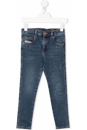 Diesel Kids Girls Straight - Mid-rise straight-leg jeans