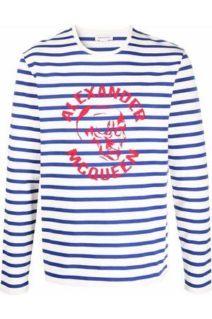 Alexander McQueen Men Sweaters - Logo-print striped jumper