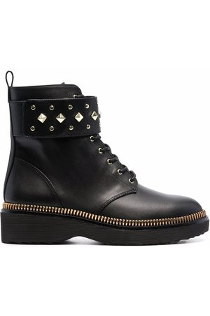 Michael Michael Kors Women Boots - Haskell spike-strap leather boots