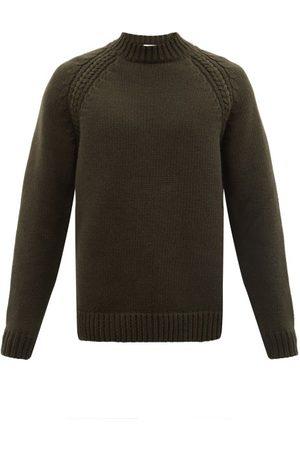 Raey Crew-neck Chunky Wool-blend Sweater - Mens - Khaki