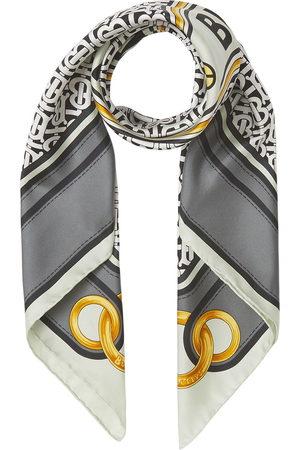Burberry Montage print square scarf