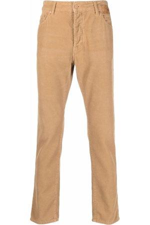 Palm Angels Slim leg corduroy logo trousers