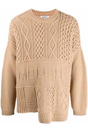 AMBUSH Patchwork cable-knit jumper
