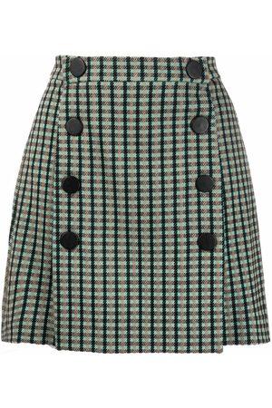 Pinko Check-print mini skirt