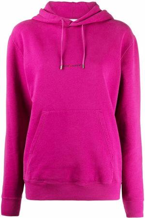 Saint Laurent Logo-print drawstring hoodie