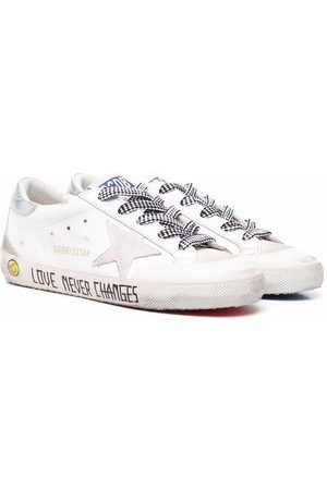 Golden Goose Kids Love Never Changed low-top leather sneakers