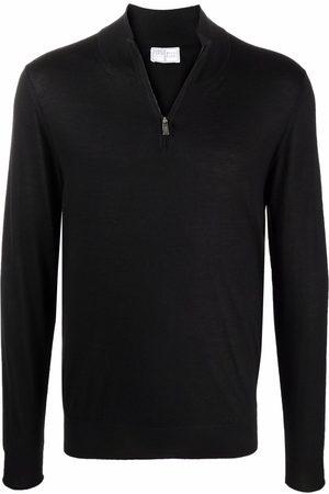 FEDELI Roll-neck rib-trimmed jumper