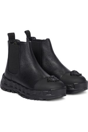 VERSACE Girls Boots - Medusa leather boots