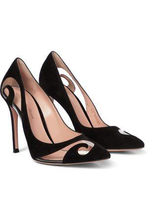 Gianvito Rossi Women Heels - Ribbon D'Orsay suede pumps