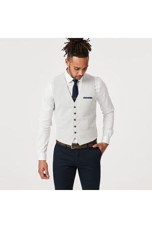 Politix Men Gilets - Suiting Suitseparates Vests, Size Small Neutral Coloured Mendel Vest