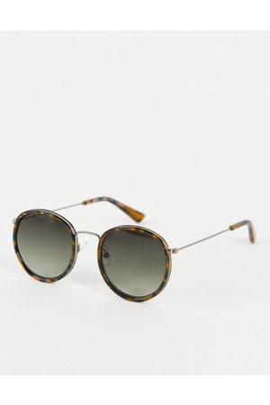 Weekday Explore rounded sunglasses in -Neutral